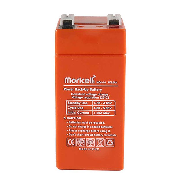 باتری موریسل 4 آمپر 4 ولت