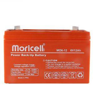 باتری موریسل 12 آمپر 6 ولت