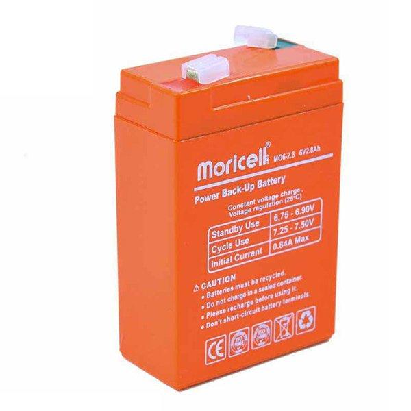باتری موریسل 2.8 آمپر 6 ولت