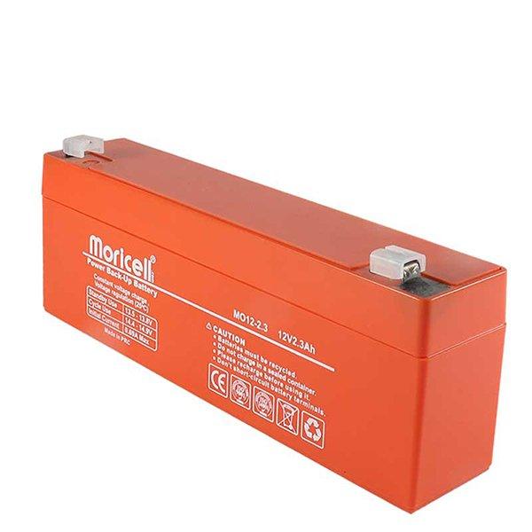 عکس دوم باتری موریسل 2.3 آمپر 12 ولت Moricell